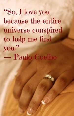 Paulo Coelho | The Alchemist | Valentine's Day Quotes