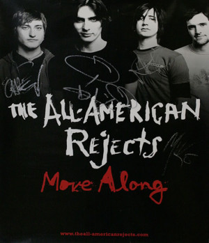 The All-American Rejects Move Along - Autographed USA POSTER SIGNED ...