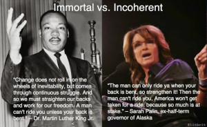 If you're going to rip off Dr. King, at least get the words right