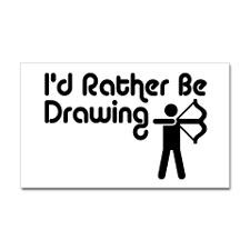 Funny Archery Sticker (Rectangle) for