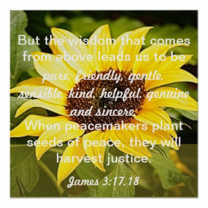 seeds of peace bible verse James 3:17-18 Posters