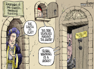 Political Cartoon is by David Horsey in the Los Angeles Times.