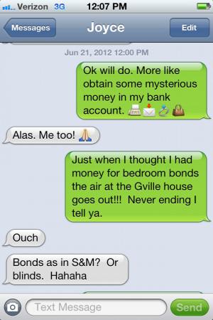 funny auto-correct texts - Bondage vs. Air Conditioning