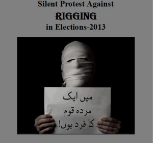 Election Funny Posters - Silent protest against Rigging in Elections ...