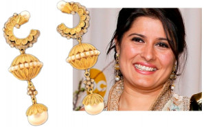 Sharmeen Obaid Chinoy earrings oscars 2012: sharmeen obaid chinoy