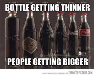 funny coca cola evolution smaller