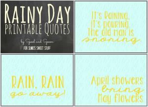 Rainy Day Printable Quotes