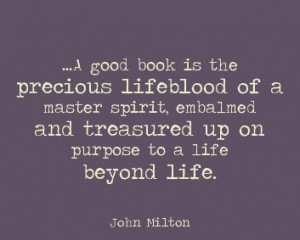 John Milton #quote #books #reading
