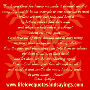 Thank you God for letting me make it through another crazy day and be ...