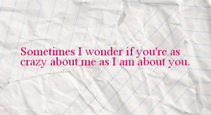 crazy, cute, hardy, love, paper, quote, sigh, text, wonder, words