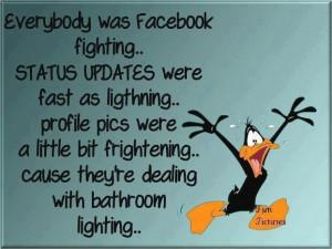 Facebook status ... a la kung foo fighting