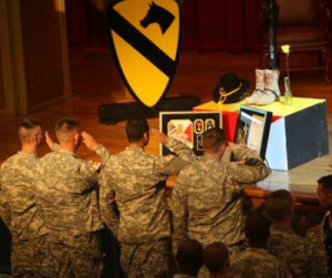 Soldiers salute their fallen brothers in arms -CavHooah.com