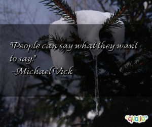 ... they want to say michael vick 108 people 89 % like this quote do you
