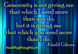 Quotes On Generosity