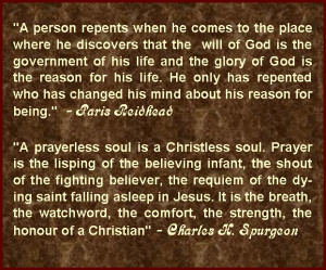 More Great Quotes on the subject of 'Prayer'
