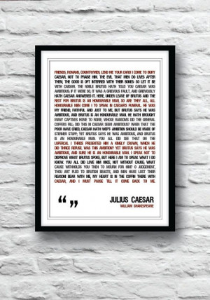 shakespeare quote shakespeare poster julius caesar poster quote poster ...