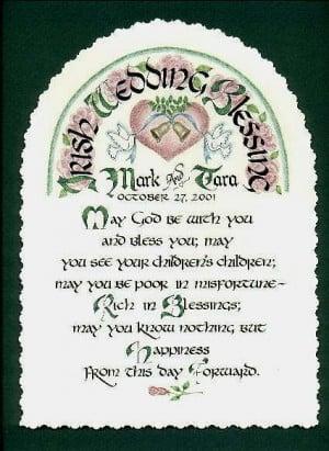 Irish Wedding Blessing-personalized wedding gift