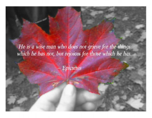 red maple leaf thankful quote