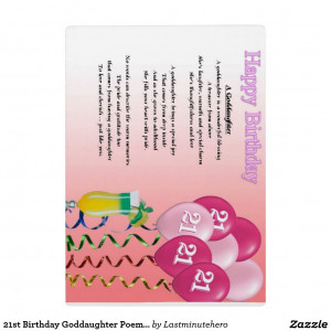 Goddaughter Quotes Poems 21st Birthday Goddaughter Poem