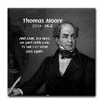 Irish Poet: Thomas Moore Tile Coaster