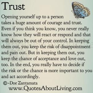 Trust - Opening Up