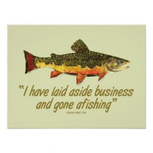 Izaak Walton Fishing Quote Posters