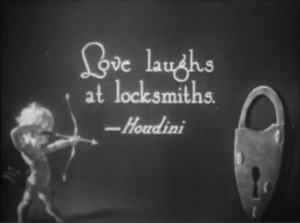 Buster Keaton gives Houdini a plug