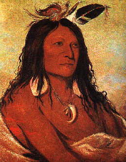 Comanche named Bow and Quiver.Painted by George Catlin in 1832 .