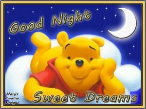 Good Night Sweet Dreams Bear