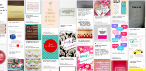 Shells 711 Kate Spade famous quotes board