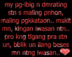 Tagalog Moving On Quotes And Pinoy Move Love Sms Boy Banat Picture