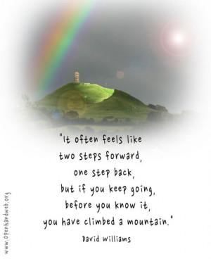 Climbing a mountain quote