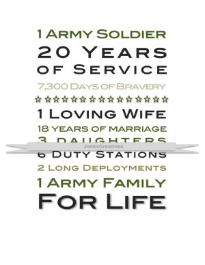 Army Custom Print. Great Gift Idea for Military Retirement!