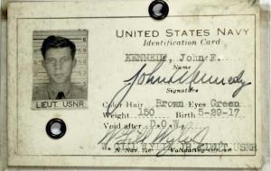 John F. Kennedy's Navy ID Card