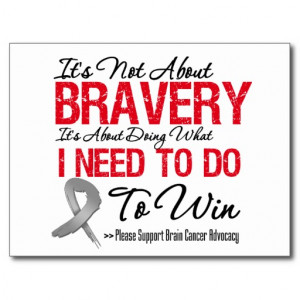 Brain Cancer Battle Post Card