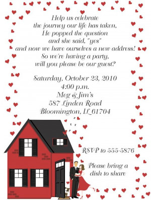 Housewarming/Engagement Party invitation