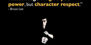 ... Wallpapers > Quote by Knowledge and Character by Bruce Lee