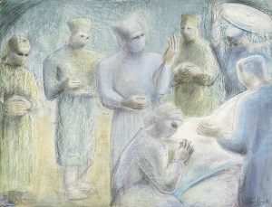 Never seen these before. Barbara Hepworth draws surgeons.