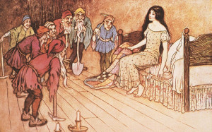 Snow White and the Seven Dwarfs, which is probably incredibly violent ...