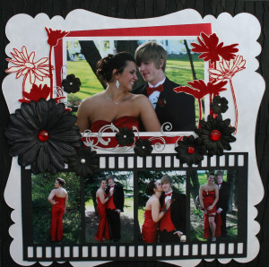 Senior Prom Scrapbook Layouts