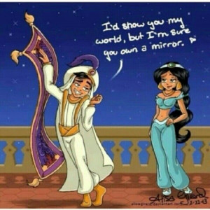 Awh Aladdin and Jasmine