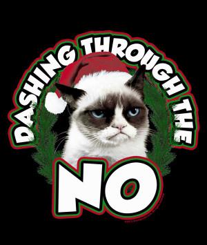 Grumpy Cat Christmas Babydoll Tee