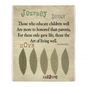 Living Room gt Retired Teacher quote Aristotle Blanket 2 Throw Bl