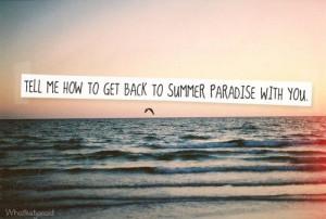 Summer Paradise. Simple Plan.