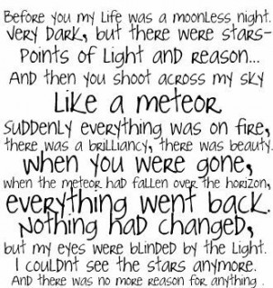twilight quote-meteor