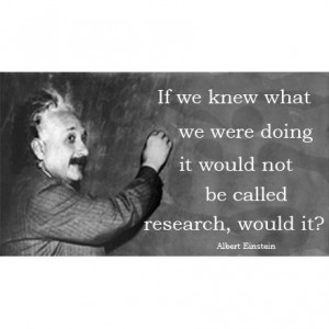 Einstein Quote Magnet - Research