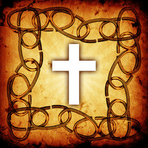 Chain Frame: Chain frame with a Christian cross.Please visit my ...