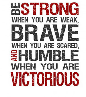 Be Strong Picture Quote