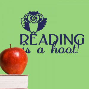 Reading Is A Hoot - vinyl wall decal