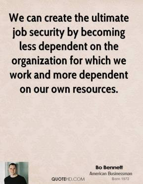 Job Security Quotes